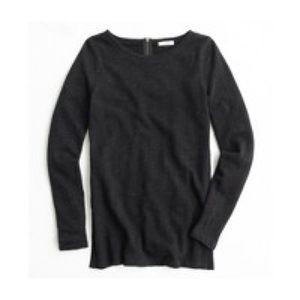 J.Crew tunic sweatshirt, side slits, back zipper